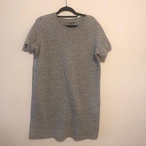 COS grey wrinkled shirt dress sz L